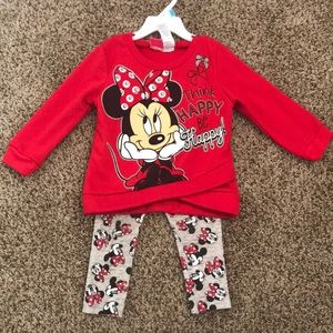2-Piece Minnie Mouse Set (Red)